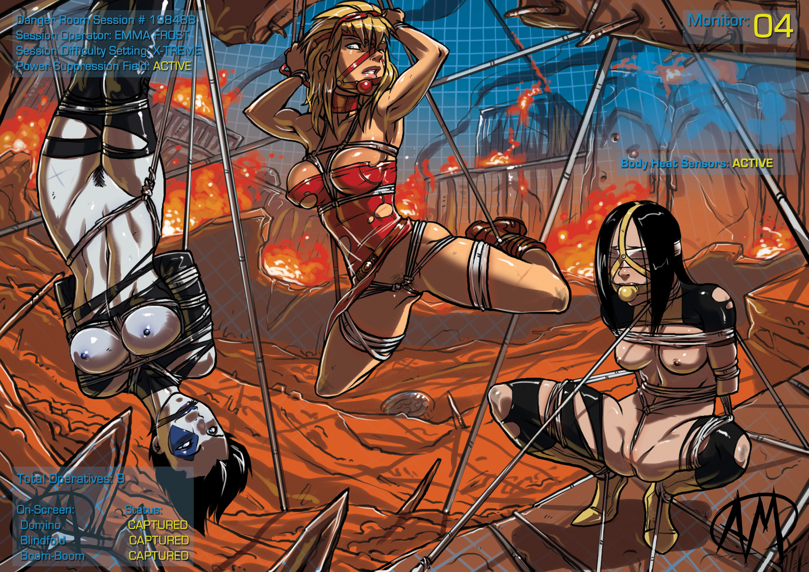 Bound And Gagged Superheroines Marvel Comics
