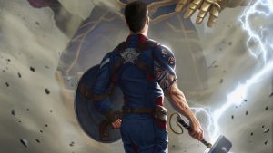 captain america with thors hammer 300x169 captain america with thors hammer