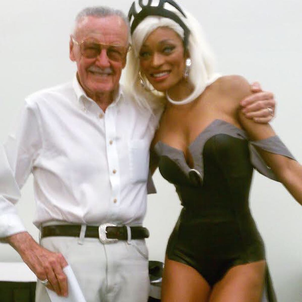 """Alicia Marie on Instagram: """"Favorite moment in cosplay. The first time I met @therealstanlee 🙌🏽 Reflecting on Stan's passing. 💔😞 I hesitated because it's sometimes…"""""""