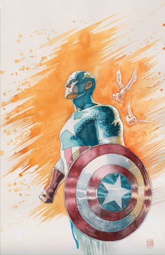 Captain America in water color 324x500 Captain America in water color