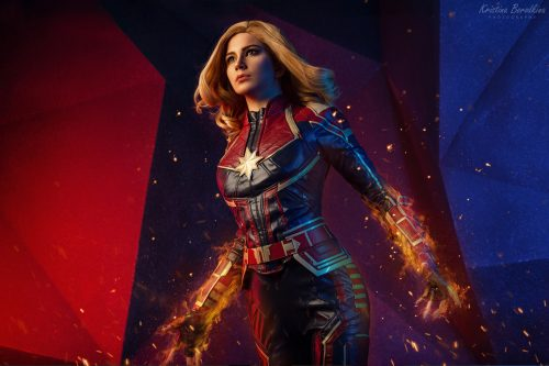 Captain Marvel in motion 500x333 Captain Marvel in motion