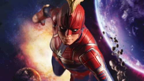 Captain Marvel in the Space 500x281 Captain Marvel in the Space