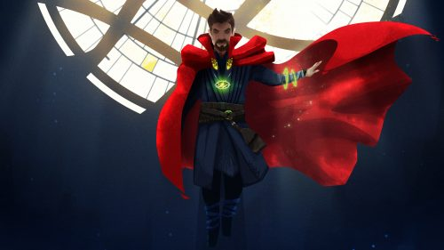 Doctor Strange with one arm 500x281 Doctor Strange with one arm
