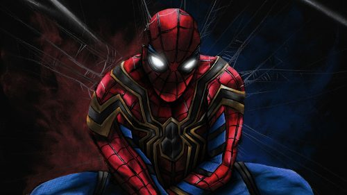 PS4 Spider man in his web 500x281 PS4 Spider man in his web