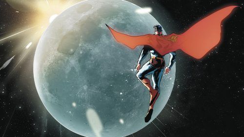 Superman inspecting the moon 500x281 Superman inspecting the moon