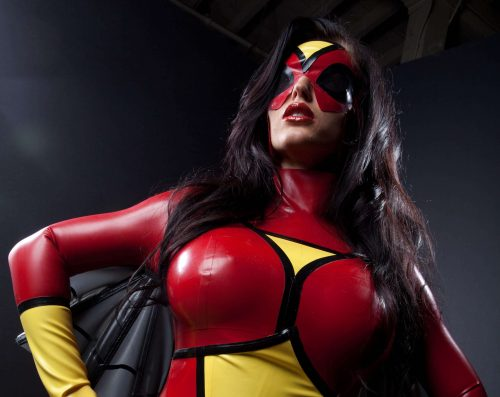 spider woman cosplay 500x397 spider woman cosplay