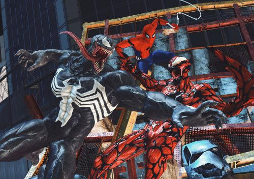 venom and carnage while spider man watches 500x352 venom and carnage while spider man watches