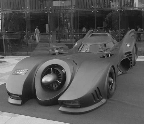 Batmobile with its massive weapons deployed 500x430 Batmobile with its massive weapons deployed