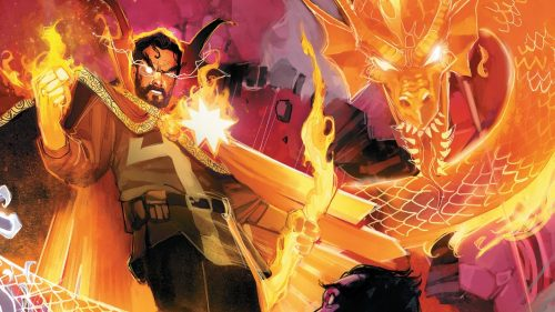 Doctor Strange and Fire Dragon 500x281 Doctor Strange and Fire Dragon