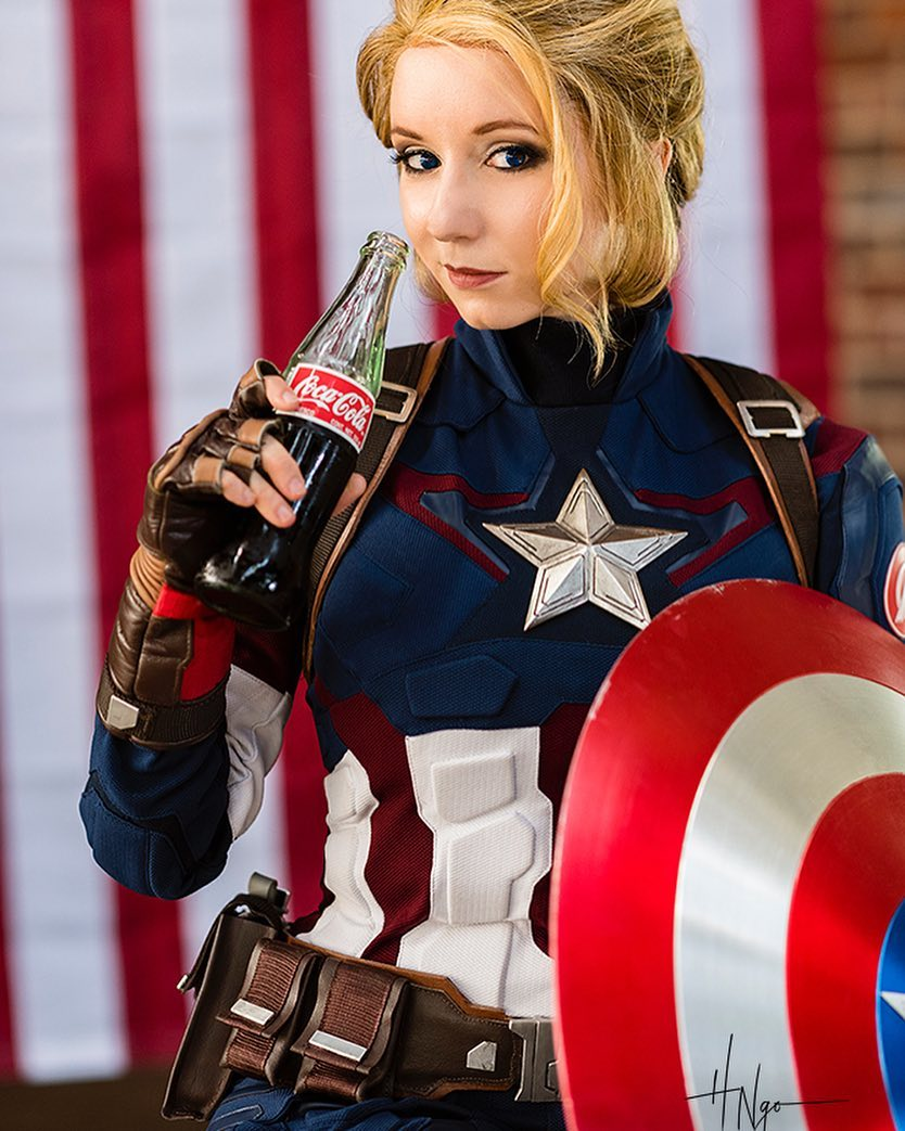 """Riki Le Cotey on Instagram: """"Did you get your #endgame tickets? I managed to get mine with very little wait! #lucky #avengers #cocacola #captainamerica #cosplay"""""""
