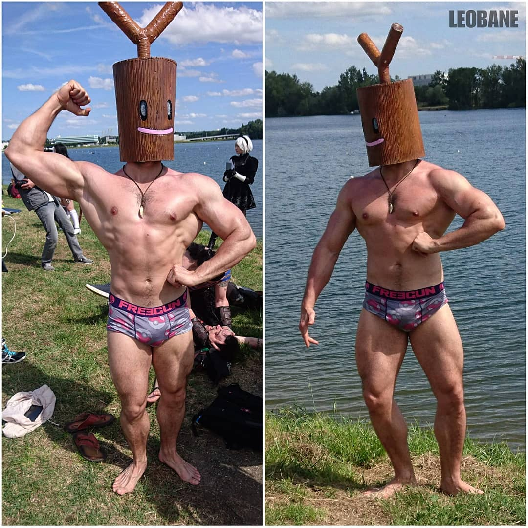 """LEOBANE Cosplay & Fitness on Instagram: """"So I did a new pokemon, like I did Diglett before, it was time for a muscular Sudowoodo to challenge the @bordeauxgeekfestival 💪. Sadly…"""""""