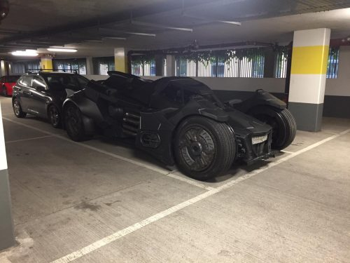 Batmobile in the parking garage 500x375 Batmobile in the parking garage
