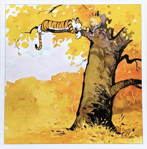 calvin and hobbes in a tree 494x500 calvin and hobbes in a tree