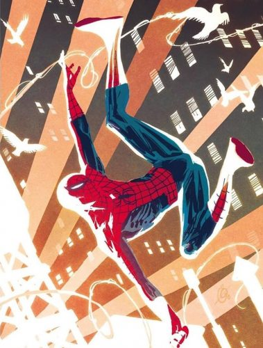 spider man going up with birds 379x500 spider man going up with birds