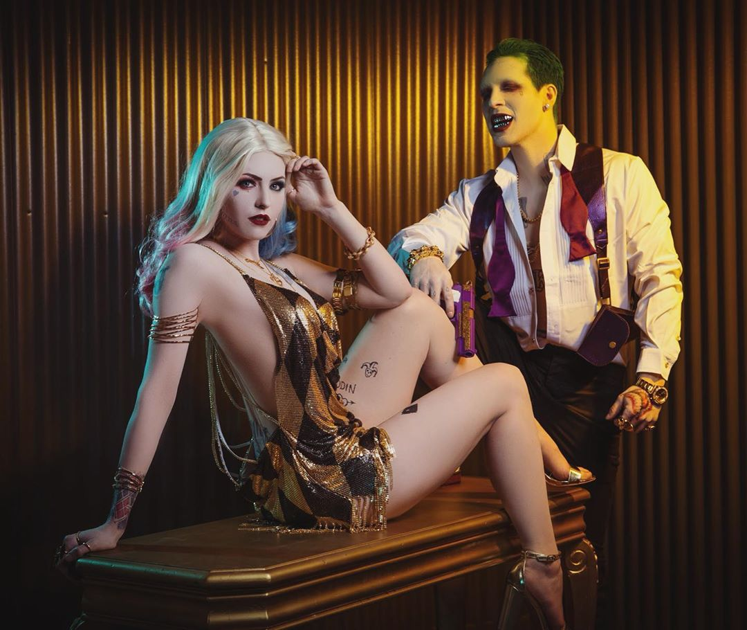 """Jessica the Maid Of Might on Instagram: """"They became the king and queen of Gotham City. And God help anyone who disrespected the queen. 💜❎🃏🖤♦️ Joker is @dadelza…"""""""