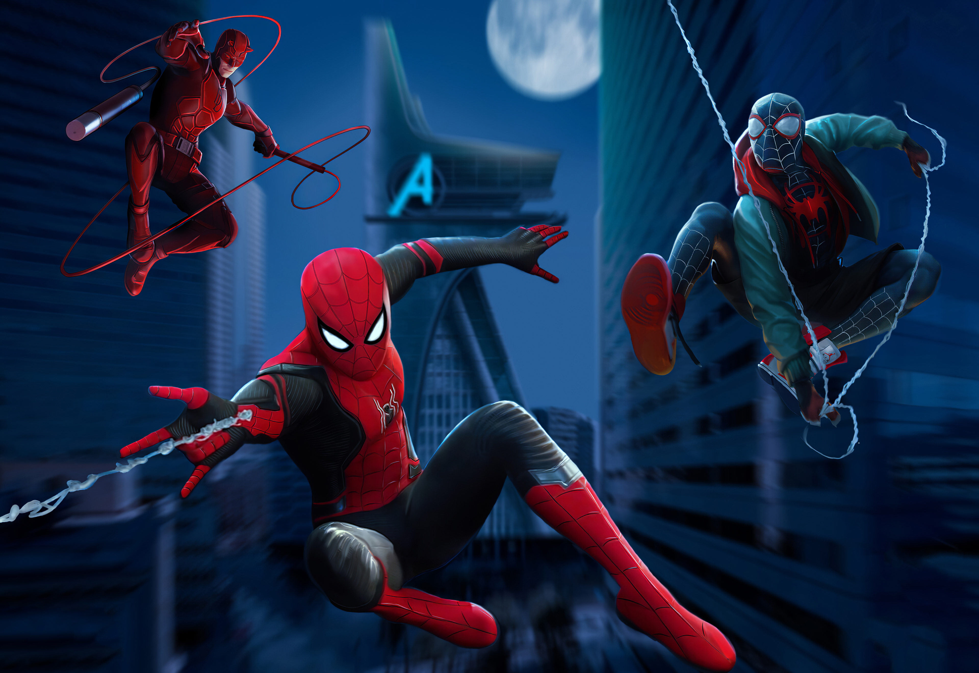 Two Spider-men and a Daredevil