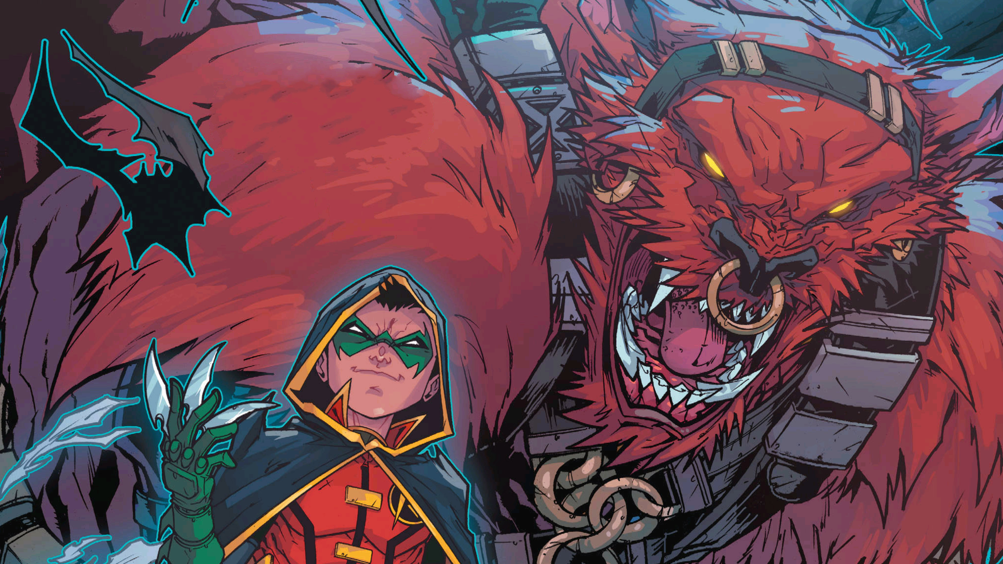 Robin and Red Monster