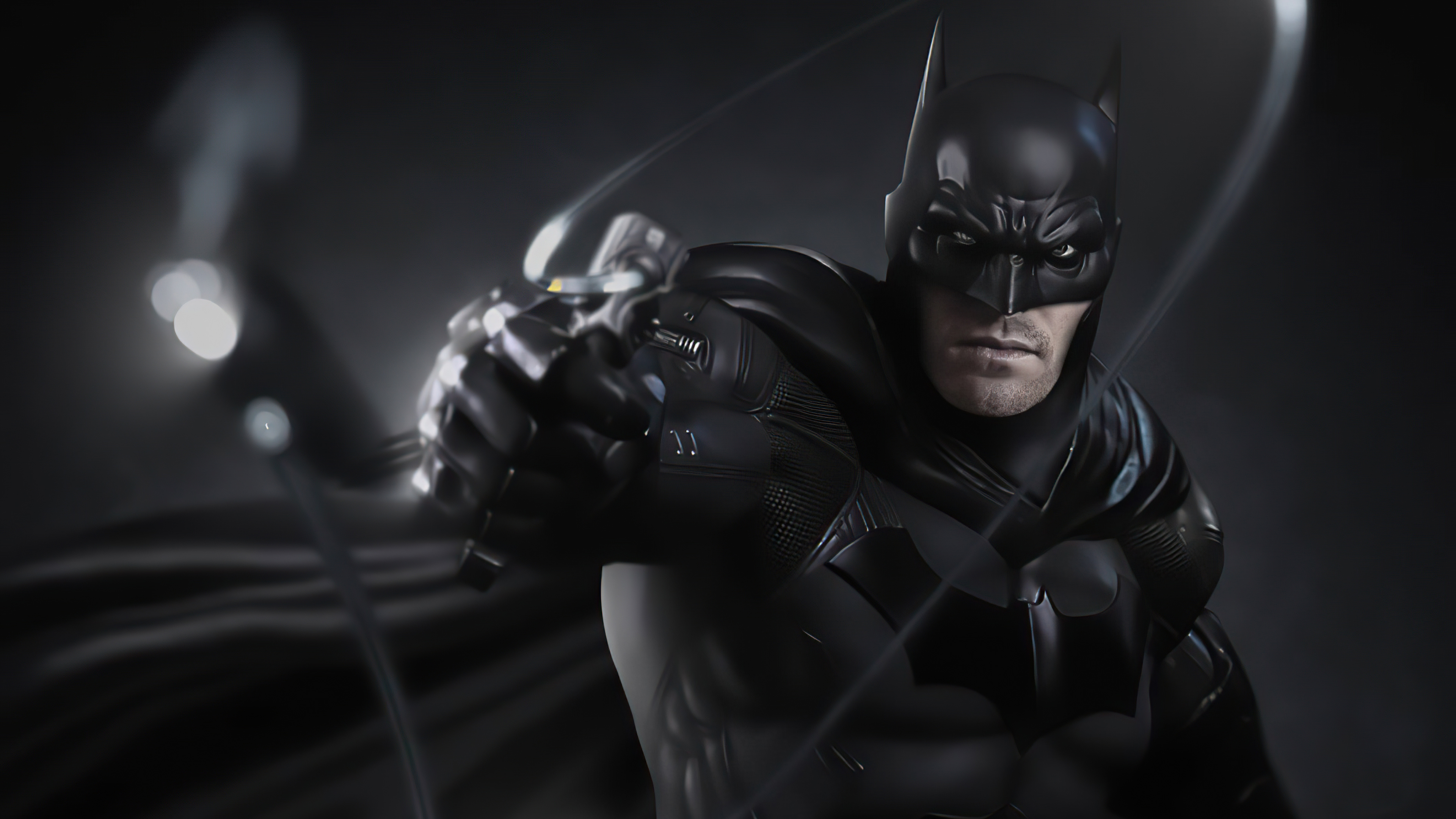 batman with a rope gun