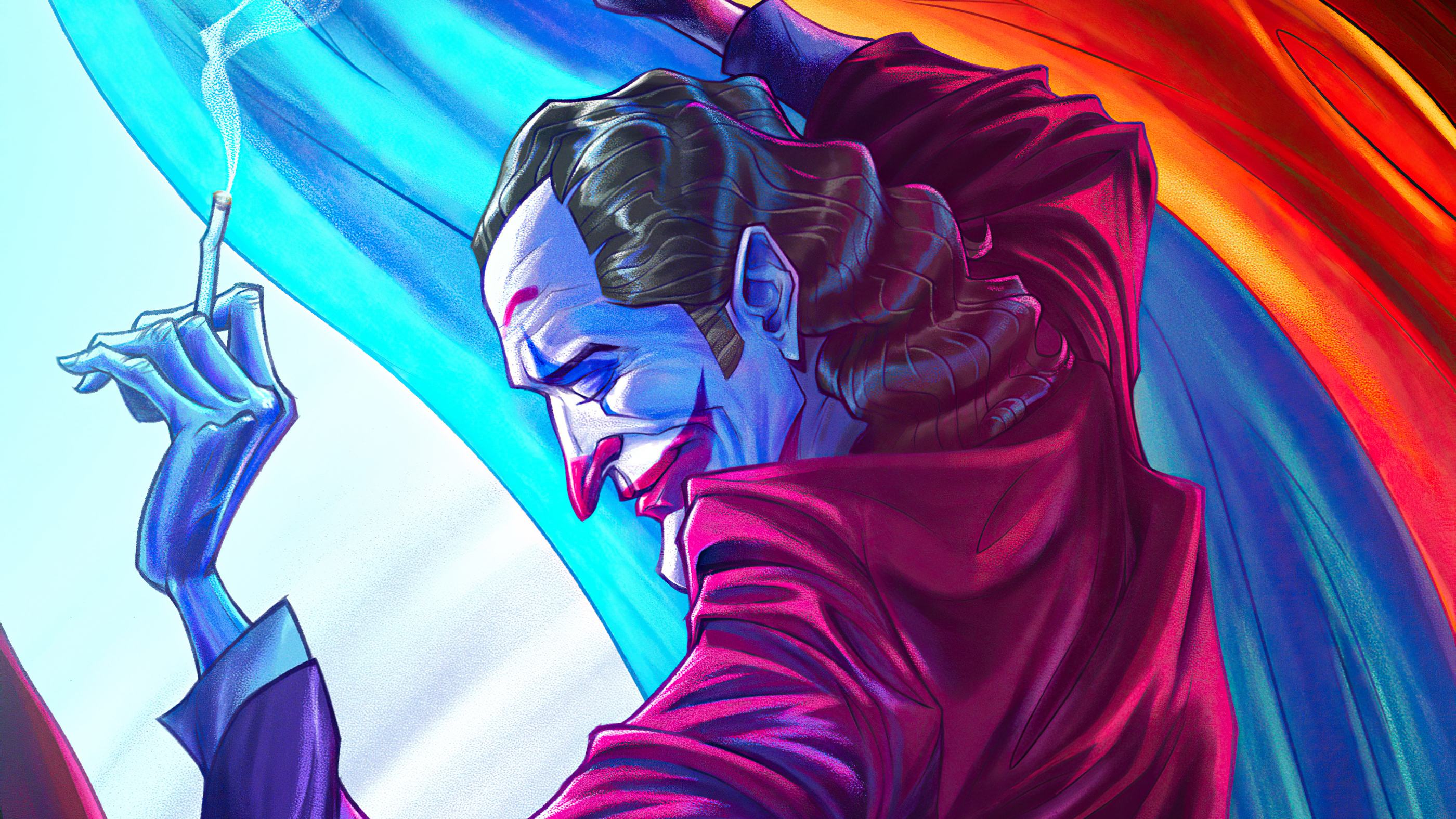 the joker with cig